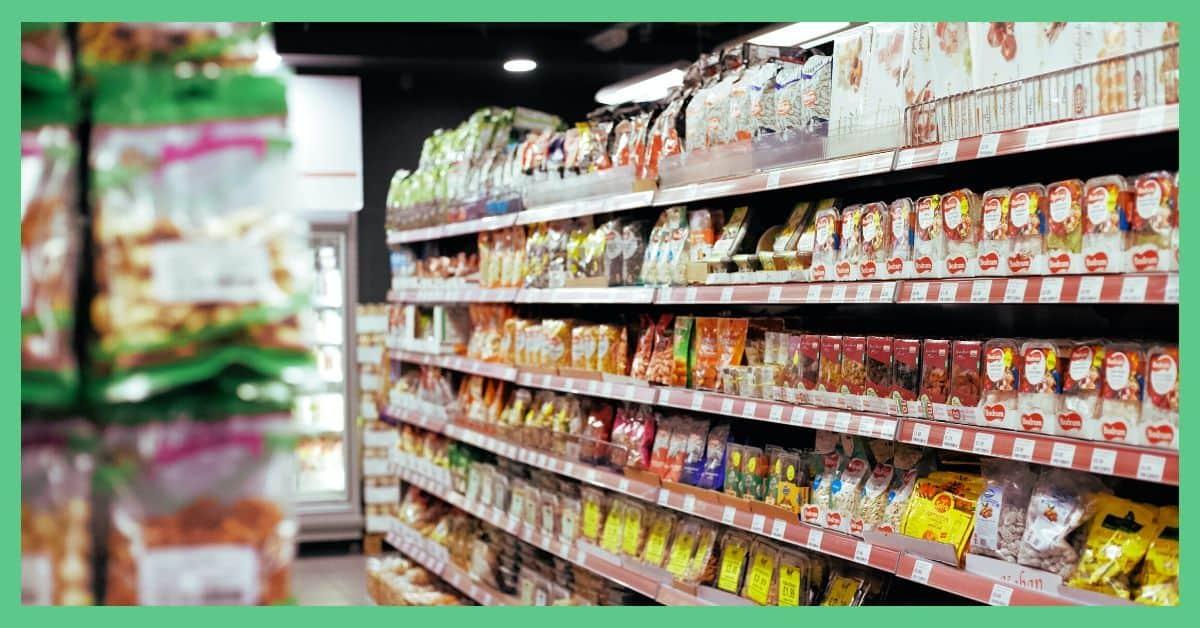 A supermarket aisle.