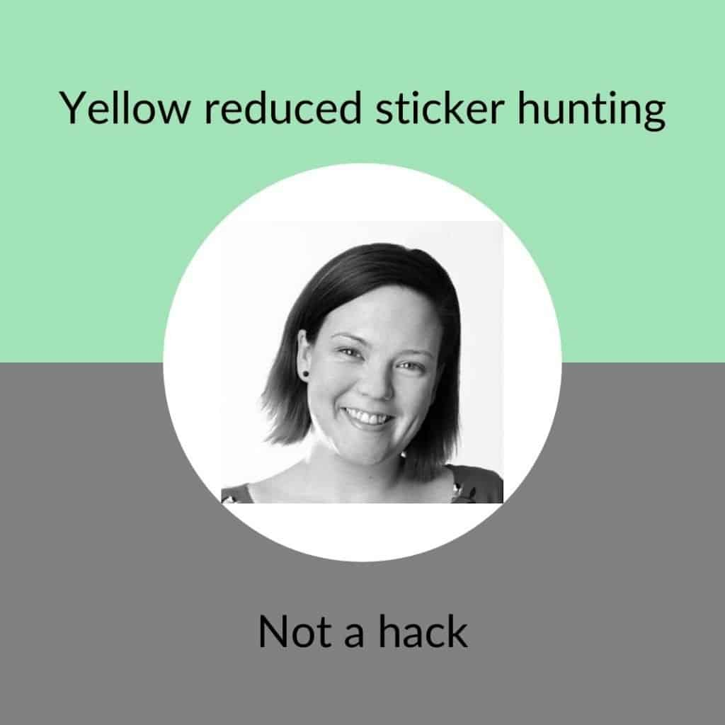 Yellow reduced sticker hunting - not a hack icon - Claire St