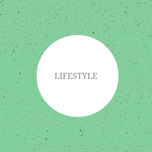 The image shows a green background with spots on. On top of the image, the text reads: 'lifestyle'.