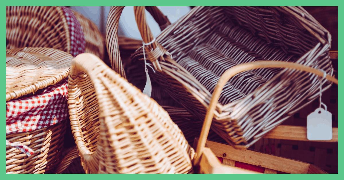 A selection of hamper baskets.
