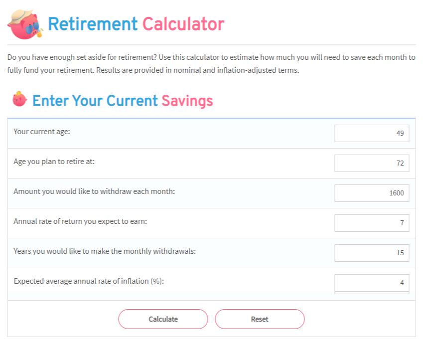 The Pigly.com retirement calculator.