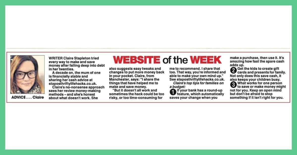 The Sun newspaper - Mrs Crunch - website of the week