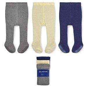 LA Active non-skid cotton baby tights