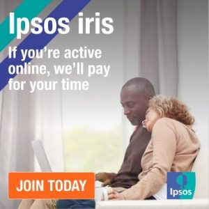 Ipsos - if you're active online, we'll pay for your time.