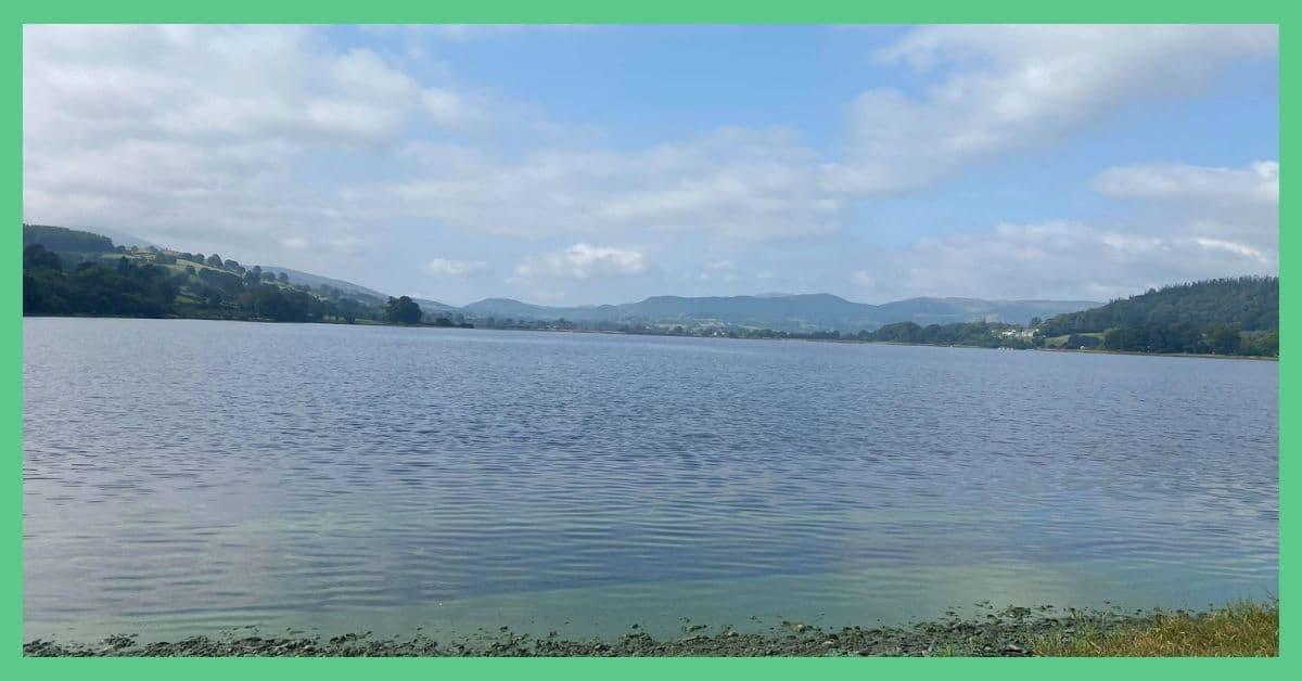 Bala Lake from the shoreline.