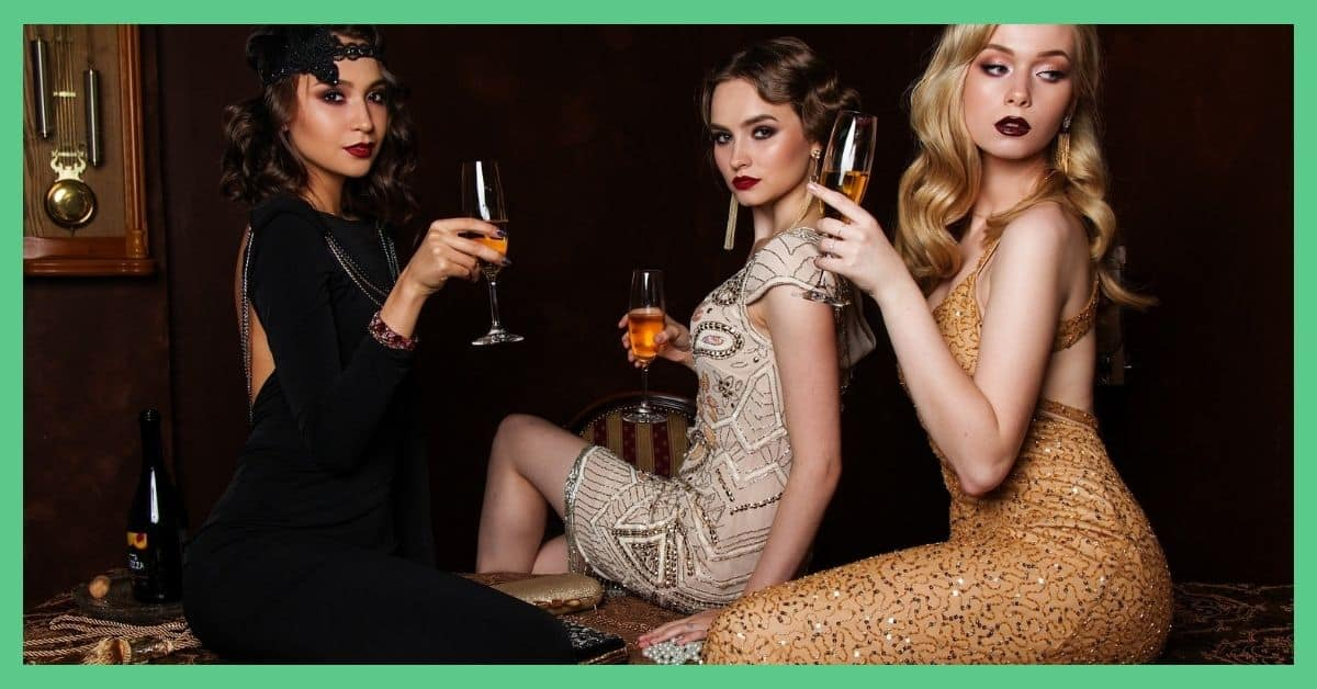 This article is about financial mistakes I made in my twenties. The image shows three glamourous young women in their 20's.