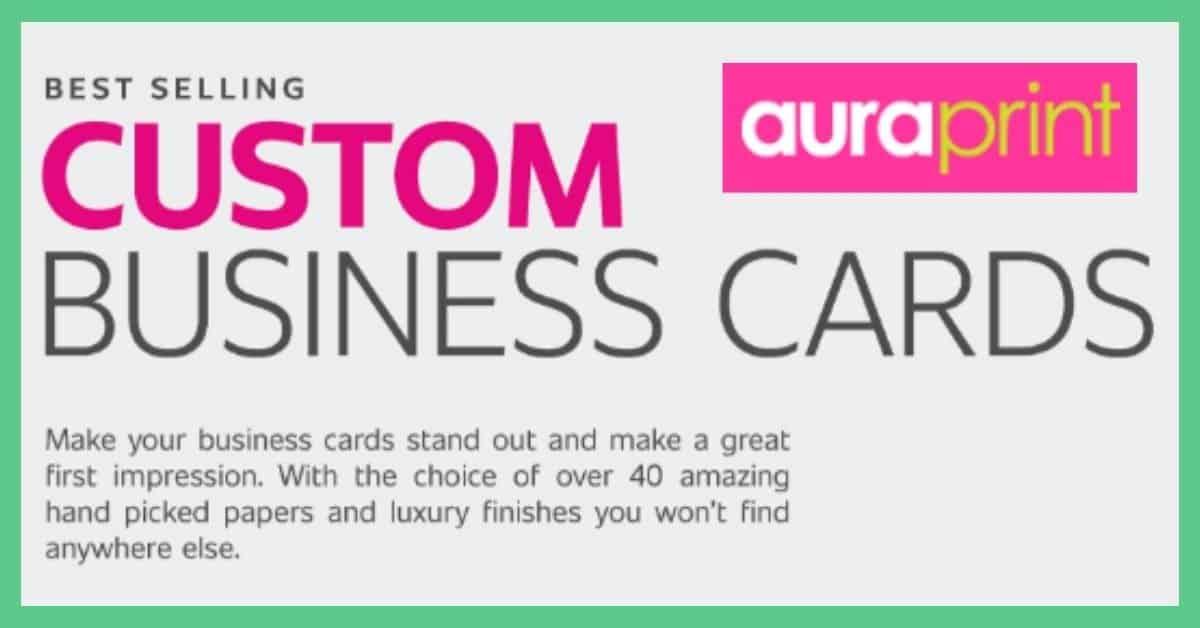 Aura Print - custom business cards